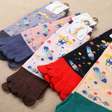 Gours 2016 New Fall and Winter Women Socks Fashion Brand Long Cotton Socks Lot Casual Funny Socks with Toes for Women K0037 - Cerkos.com