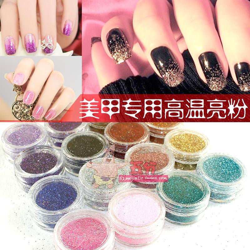 High-temperature laser glitter nail art glitter