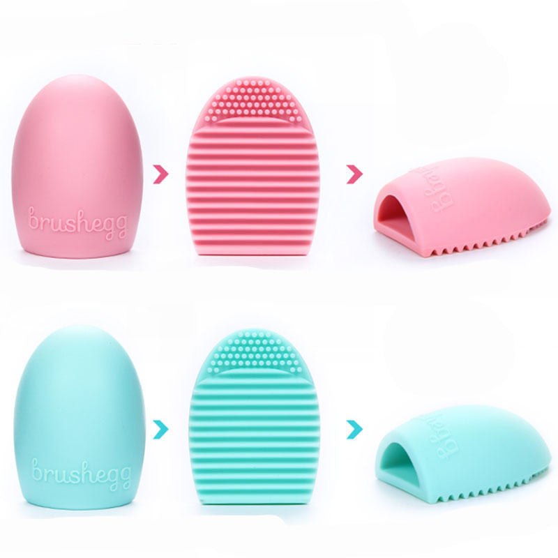 New Hot Selling Brushegg Silica Glove Makeup Washing Brush Scrubber Board Cosmetic Cleaning  Tools E10008 - Cerkos  - 20