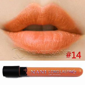 Hot Sale Waterproof Elegant Daily Color Lipstick matte smooth lip stick lipgloss Long Lasting Sweet girl Lip Makeup C10 - Cerkos  - 13
