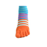 Wiggle Socks Creative Fashion Stripe Middle Tube Socks Women Stripe Cotton Casual Socks Daily Sports GYM Five Toe Socks - Cerkos  - 29