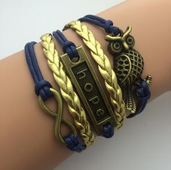 AB076 Fashion jewelry leather Double infinite multilayer bracelet factory price wholesales - Cerkos  - 16