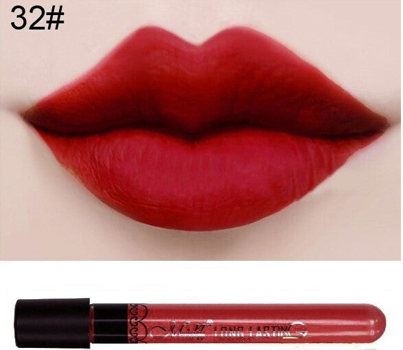 Matte lipstick 11 colors velvet high quality waterproof Lipgloss colors sexy mc lipstick - Cerkos  - 10