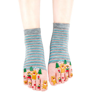 Wiggle Socks Miss sexy comfortable style woman's foot - high 100% cotton toe socks five fingers socks comic female 5 - toe socks - Cerkos  - 3
