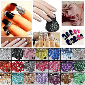 1000 pcs 3mm SS10 Resin Round Rhinestone Flatback Rhinestones 14 Facets DIY Nail Art Decoration Beads Color Choice  N01-N22 - Cerkos.com