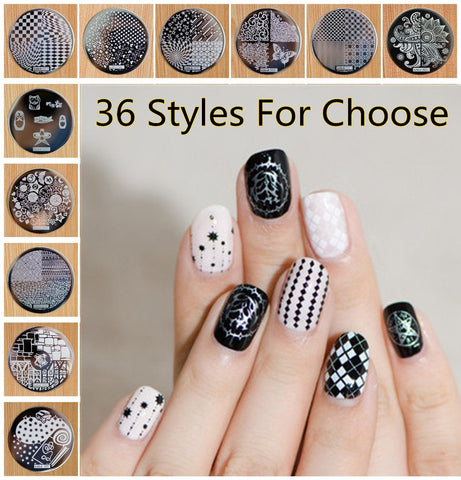 1 Piece Hive Flower Pattern etc hehe 1-36 Series Nail Art Image Plate Stamper Stamping, 36 Designs Manicure Template For Choose - Cerkos.com
