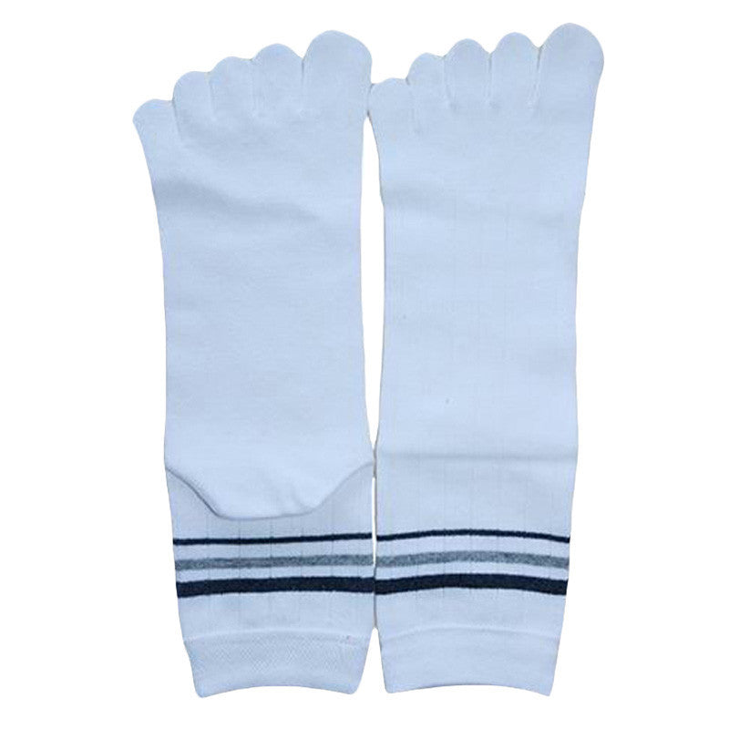 Wiggle Socks 1 Pair Cotton Middle Tube Sports Five Finger Toe Socks Good Quality - Cerkos  - 13