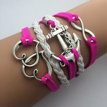 AB076 Fashion jewelry leather Double infinite multilayer bracelet factory price wholesales - Cerkos  - 15