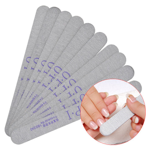 1 Piece 180/240 Double Side Nail Art Sanding Buffer Files For Salon Manicure UV Gel Tips Pedicure Tool - Cerkos.com