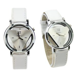 Hot 1 Pc Leather Band Stainless Steel Sport Analog Quartz Women Mens Wrist Watch - Cerkos  - 2