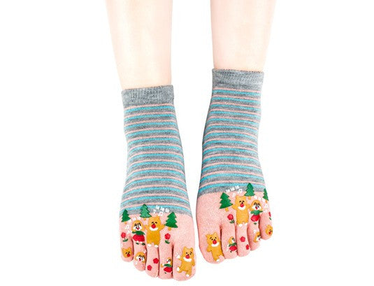 Wiggle Socks Miss sexy comfortable style woman's foot - high 100% cotton toe socks five fingers socks comic female 5 - toe socks - Cerkos  - 6