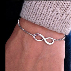 Cerkos.com: Official Men Bijoux 8 Infinity Heart Bracelet For Women Jewelry Accessories Wholesale Bangles Bijoux