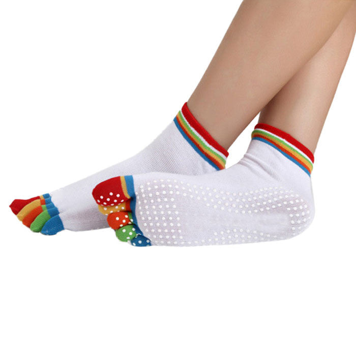 Wiggle Socks:  Newly Design High Quality Yoga Socks 5 Toes Cotton Socks Exercise Sports Pilates Massage Sock May20 - Cerkos  - 6