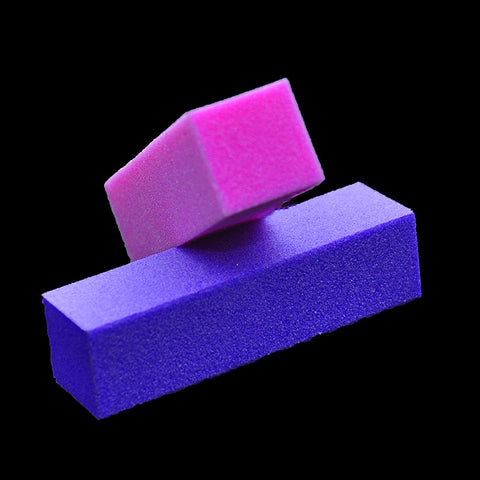 2 X Purple Nail Art Buffer Buffing Sanding Files Block - Cerkos.com