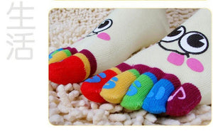 Wiggle Sock Fashion Five toe sock women Sweet Girl type (Hello Kitty cat / Bear / Striped / Surprise / leopard cat ) short socks - Cerkos  - 18