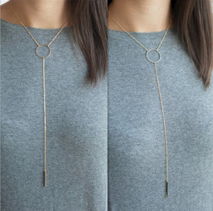 Hot sale !!! Fashion Casual Personality Infinity Cross Lariat Pendant Necklace - Cerkos  - 16