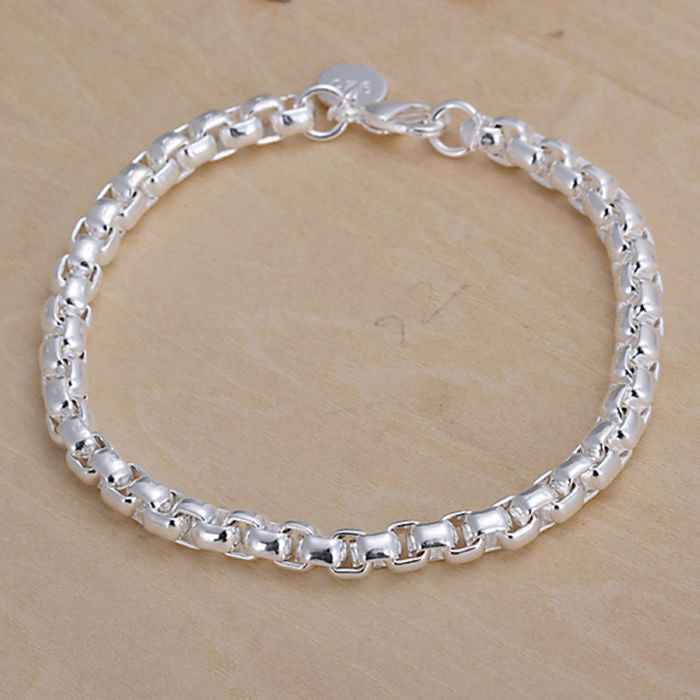 jewelry silver plated  bracelet, 925-sterling-silver  fashion jewelry Round Bracelet