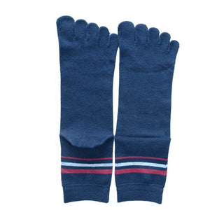 Wiggle Socks 1 Pair Cotton Middle Tube Sports Five Finger Toe Socks Good Quality - Cerkos  - 20