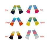 Wiggle Socks Creative Fashion Stripe Middle Tube Socks Women Stripe Cotton Casual Socks Daily Sports GYM Five Toe Socks - Cerkos  - 15