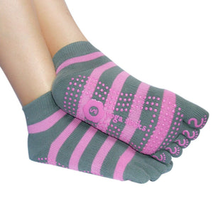 2015 Women Professional Anti Slip Yoga Socks Sport Exercise Pilates Socks Half Toe Ankle Grip Calcetines Free Shipping - Cerkos.com