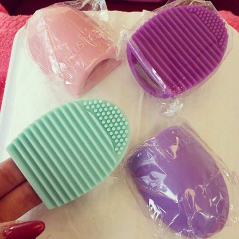 New Hot Selling Brushegg Silica Glove Makeup Washing Brush Scrubber Board Cosmetic Cleaning  Tools E10008 - Cerkos  - 17