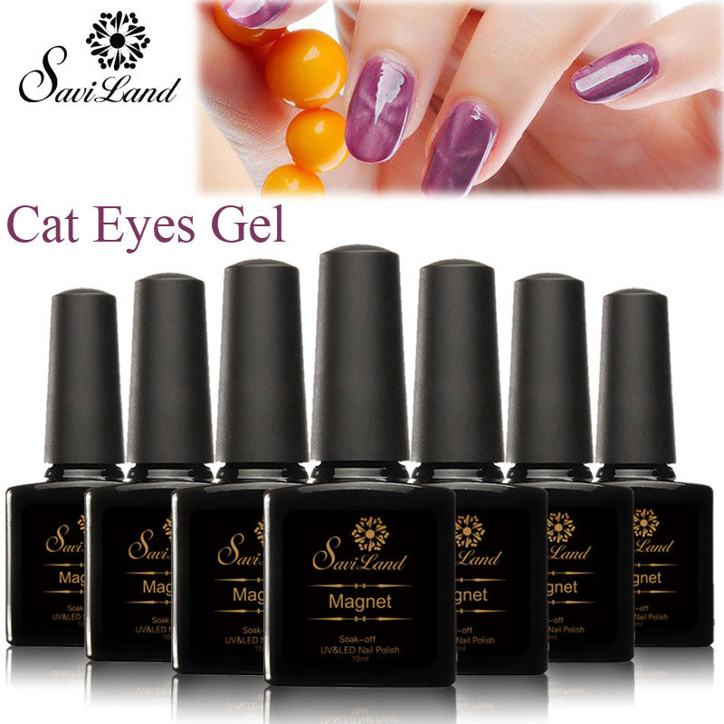 Saviland 3D Magnet UV Nail Gel Polish Cat Eye Colors Manicure Cat Colors 10ml Healthy and Eco-friendly Gel Lacquer Best On Ali - Cerkos  - 1