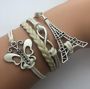 AB076 Fashion jewelry leather Double infinite multilayer bracelet factory price wholesales - Cerkos  - 14