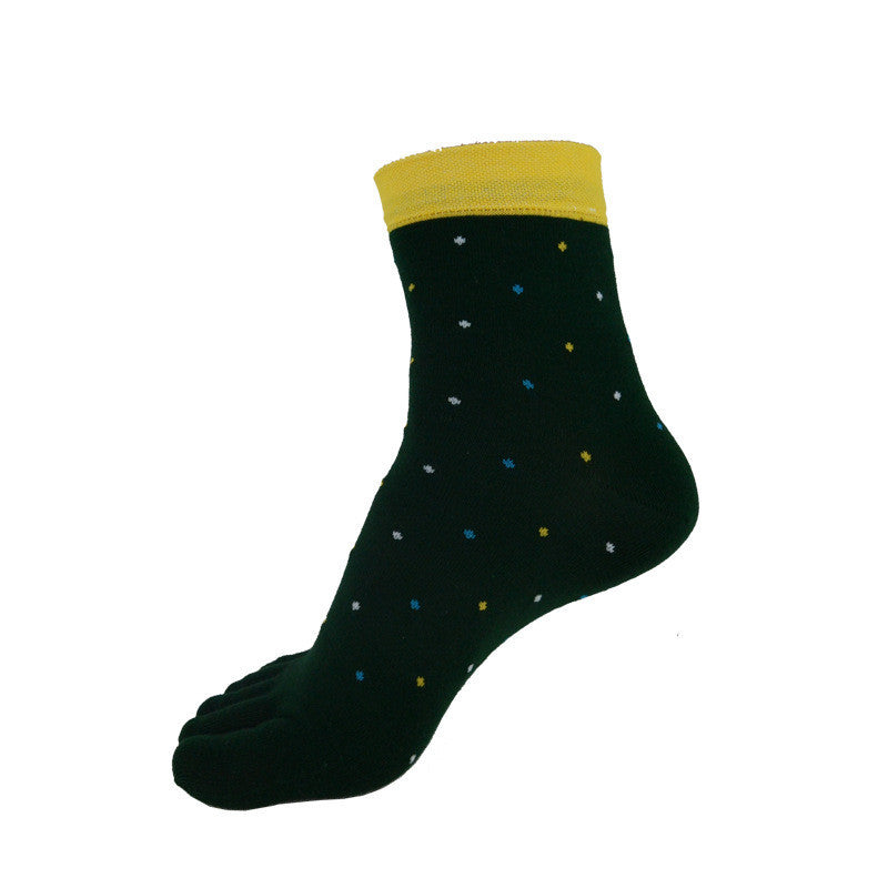 Wiggle Socks 1 Pair/Lot New Men's Socks Cotton Meias leisure Five Finger Socks Toe Socks For EU 39-44.5 Calcetines standad - Cerkos  - 3