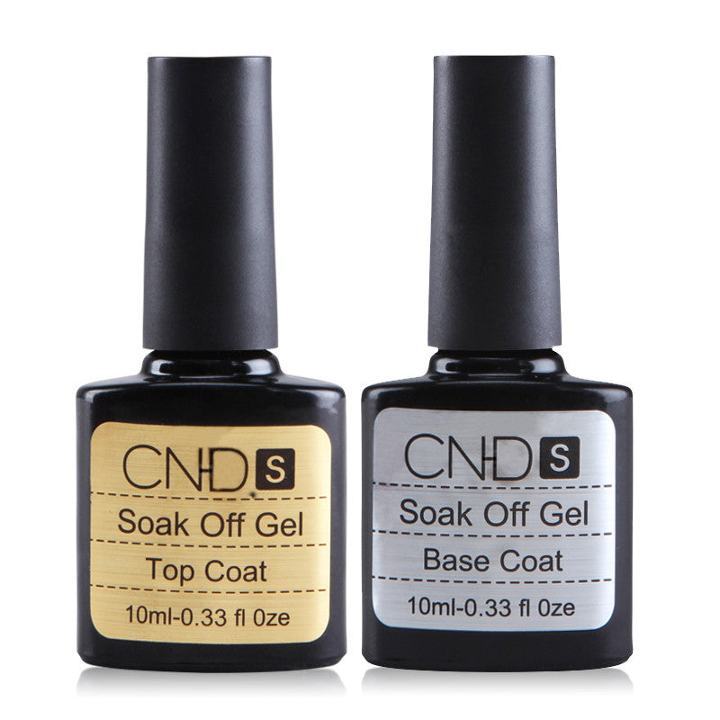 Habi 2 pcs , Top coat, + Base coat, Uv Gel Nail Polish Primer untuk dekorasi Nail Art - Cerkos