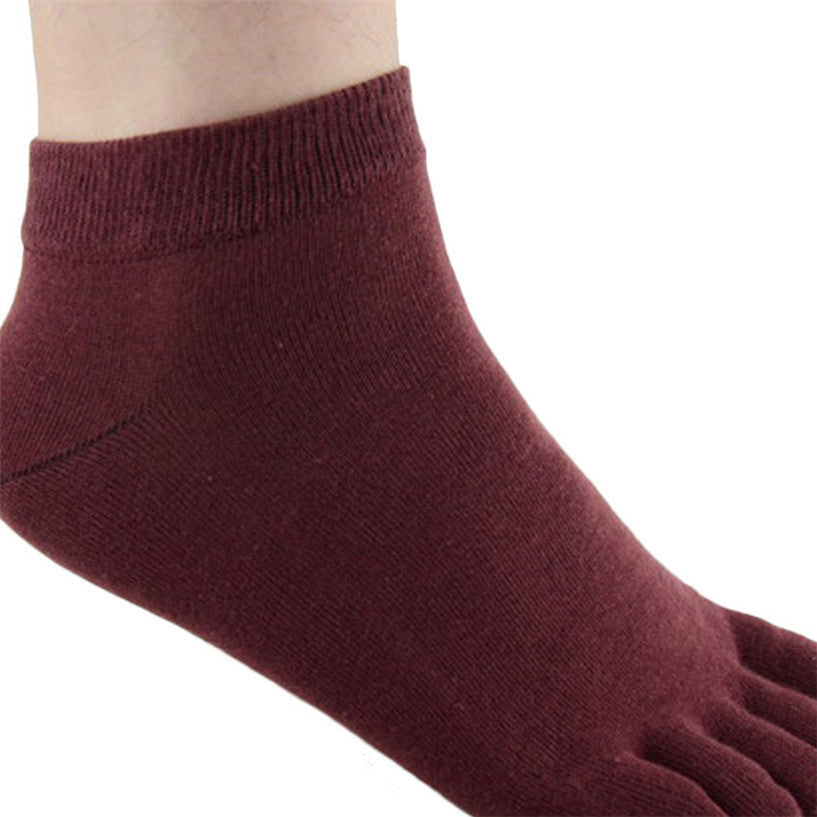 Wiggle Socks1 Pair Casual style Ventilation Socks Combed Cotton Sports Five Finger Short Socks Toe Socks - Cerkos  - 10