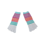 Wiggle Socks Creative Fashion Stripe Middle Tube Socks Women Stripe Cotton Casual Socks Daily Sports GYM Five Toe Socks - Cerkos  - 23