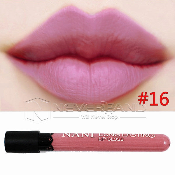 Hot Sale Waterproof Elegant Daily Color Lipstick matte smooth lip stick lipgloss Long Lasting Sweet girl Lip Makeup C10 - Cerkos  - 2