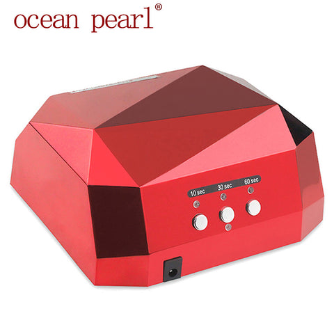 1006Long life 36W Nail Lamp UV Lamp Diamond Shaped Curing Nail Dryer Nail Care Machine for LED UV Gel Nail Polish nail tools - Cerkos.com