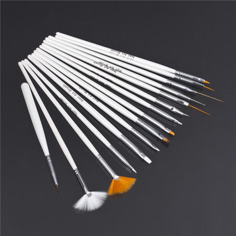 2set  professinal Nail Art Brush Set Design Painting Pen, for natural/false and 3D Beauty free shipping Newest - Cerkos.com