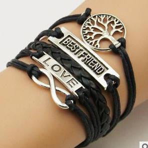 AB076 Fashion jewelry leather Double infinite multilayer bracelet factory price wholesales - Cerkos  - 9