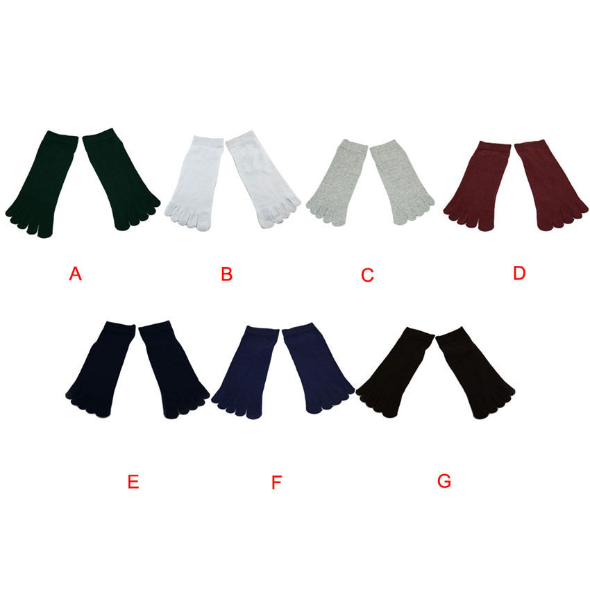 Wiggle Socks1 Pair Casual style Ventilation Socks Combed Cotton Sports Five Finger Short Socks Toe Socks - Cerkos  - 6