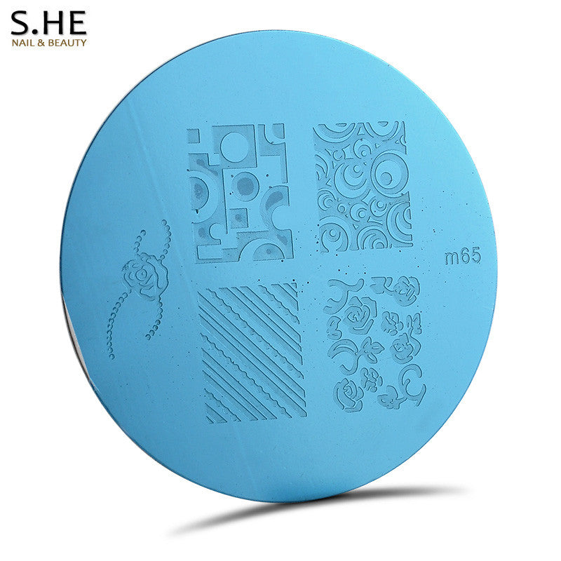 1 pc 81 Designs Nail Art Stencils For Nails Plates Polish Print Template Stamp Nail Stamping Image Plate DIY Manicure Tools - Cerkos.com