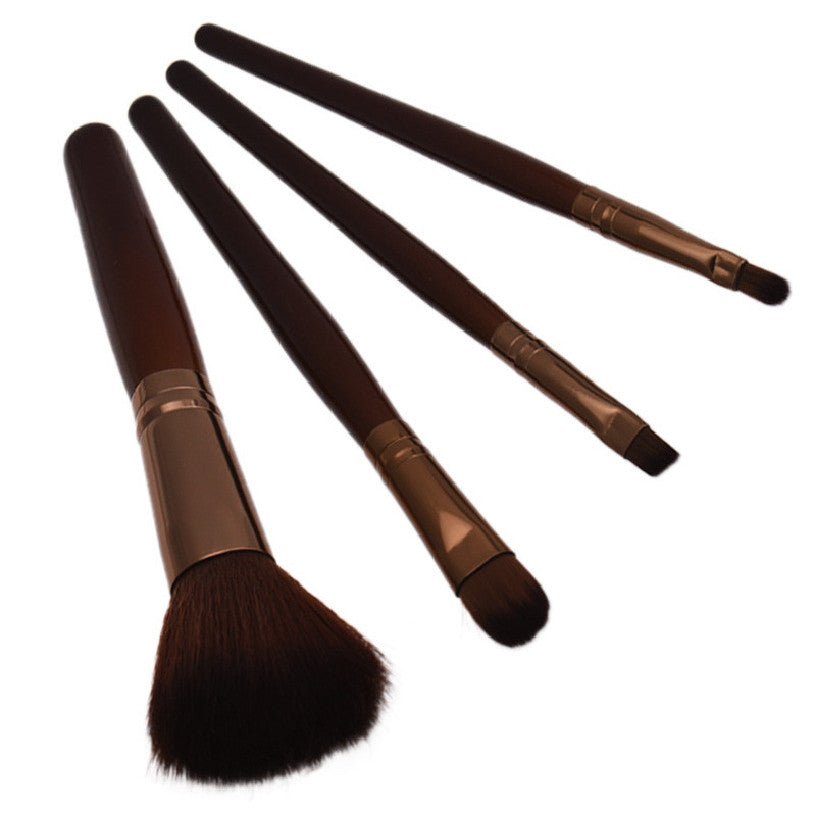 Best Deal New Women Professional 4 pcs Makeup Brush Set tools Comestic Toiletry Kit Wool Brand Make Up Brush Set for Beauty - Cerkos