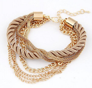 Cerkos.com: Womens Fashion Bangles Vintage Wholesale Bracelet Multilayer Bracelets Bangle