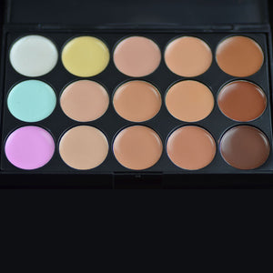 Special Professional 15 Color Concealer 15 colors Facial Face Cream/eyeshadow   Care Camouflage Makeup base Palettes Cosmetic - Cerkos