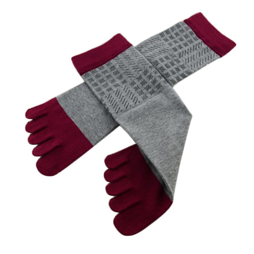 Wiggle Socks Amazing Spring Autumn Summer 1 Pair Men Sports Running Five Finger Toe Socks - Cerkos  - 21