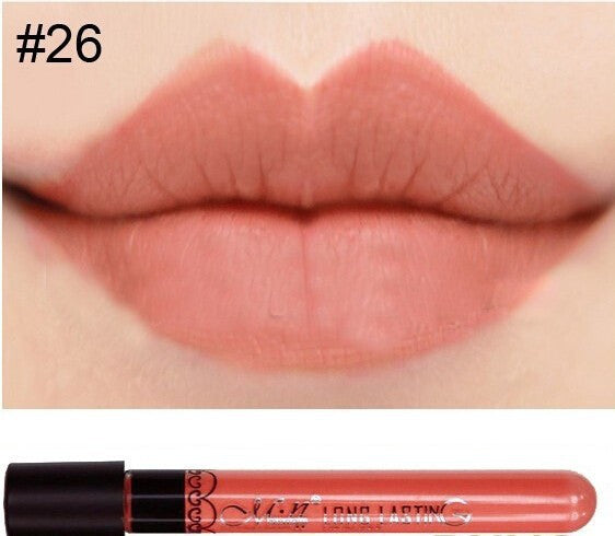 Matte lipstick 11 colors velvet high quality waterproof Lipgloss colors sexy mc lipstick - Cerkos  - 21
