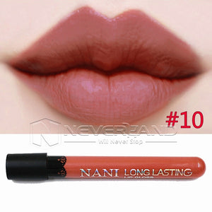 Hot Sale Waterproof Elegant Daily Color Lipstick matte smooth lip stick lipgloss Long Lasting Sweet girl Lip Makeup C10 - Cerkos  - 11