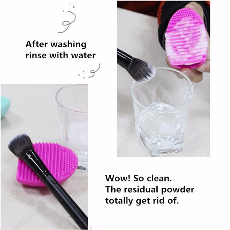 New Hot Selling Brushegg Silica Glove Makeup Washing Brush Scrubber Board Cosmetic Cleaning  Tools E10008 - Cerkos  - 2