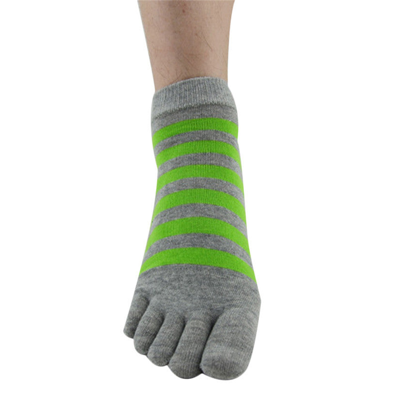 Newly Design 1 Pair Men Ventilation Socks Combed Cotton Sports Five Finger Socks Toe Socks June25 ZQ