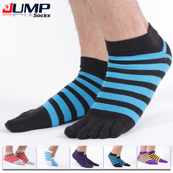 Wiggle Socks Comfortable Toe Socks Stripe Ventilation Socks Cotton Fiber Meias Sports Five Finger Socks - Cerkos  - 1