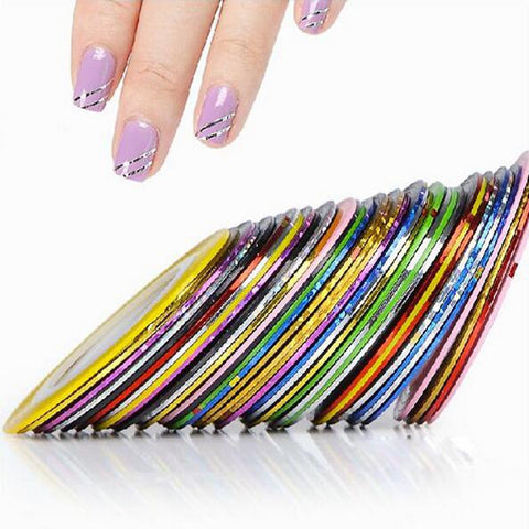 2014 New 10Pcs Mixed Colors Nail Rolls Striping Tape Line DIY Nail Art Tips Decoration Sticker Nails Care  #8802 - Cerkos.com
