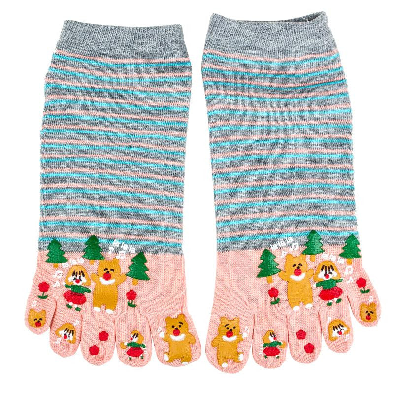 Wiggle Socks Miss sexy comfortable style woman's foot - high 100% cotton toe socks five fingers socks comic female 5 - toe socks - Cerkos  - 5
