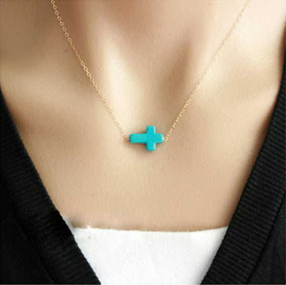 Hot sale !!! Fashion Casual Personality Infinity Cross Lariat Pendant Necklace - Cerkos  - 2