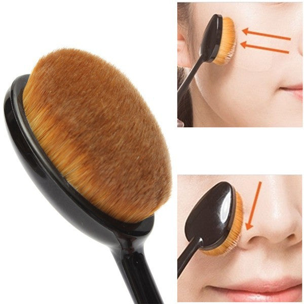 Oval Makeup Tool Cosmetic Foundation Cream Powder Blush Makeup Brush - Cerkos  - 4